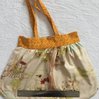 Cotton reversible handbag