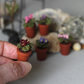 Miniature artificial vine violet crochet potted fake plant