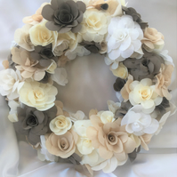 Cream and Brown Floral wreath