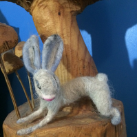 MAISY THE BUNNY - NEEDLE FELTED ART SCULPTURE