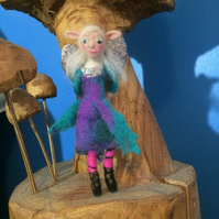 ELVENA THE ELFIN CHILD - NEEDLE FELTED FAIRY