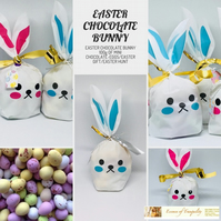 Easter Chocolate Bunny filled with 100g of mini chocolate speckled eggs