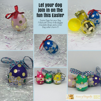 Dog,puppy Easter Gift,Dog treat,Easter Eggs for Dogs