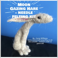 Moon Gazing Hare needle Felting kit by Essence of Tranquility
