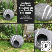 Wool felted cat cocoon, Igloos, small dog bed