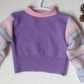 Baby jumper 6 - 12 months upcycled cashmere and wool pink purple