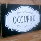 Occupied - Vacant double sided bathroom door sign ( vintage style). 5 x 3 inches