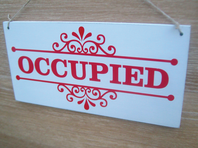 Awesome Occupied Vacant Double Sided Sign Ideal For Bathroom Doors Home Interior And Landscaping Elinuenasavecom