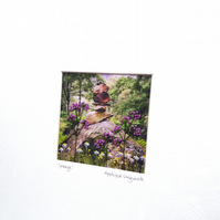 LIMITED EDITION Framed textile picture - 30CM SQUARE - GRANGE, LAKE DISTRICT