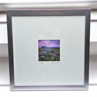 LIMITED EDITION Framed textile picture - 30CM SQUARE - CASTLERIGG, LAKE DISTRICT