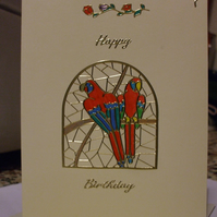 Macaw Birthday Card