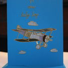 Aeroplane New Baby Boy Card