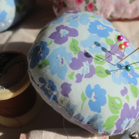 Flower and Polka Dot Pin Cushion