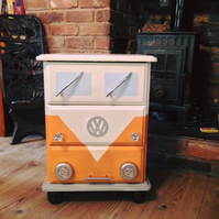 VW Campervan Camper Van Splitscren Lamp or Bedside Table Drawers or Locker