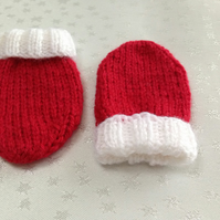 Christmas Baby Mittens 0-3 months