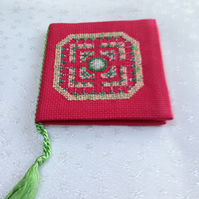 Cross Sttch Sewing Needle Case