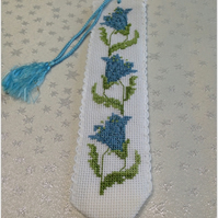 Cross stitch flower bookmark