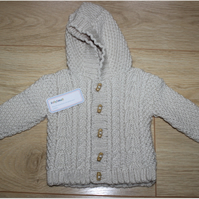 Hooded Aran Jacket Aged 1- 2 years Boy's and Girl's available