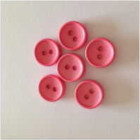 Pink Buttons - 2 hole - 14mm