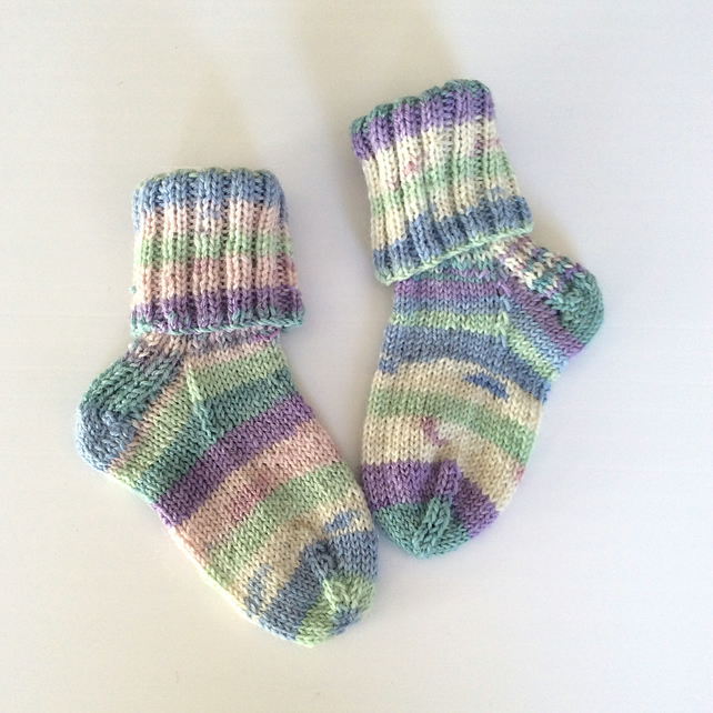 Baby and Toddler Random Striped Socks UK size 3 approx
