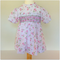 Girl's Hand Smocked Dress