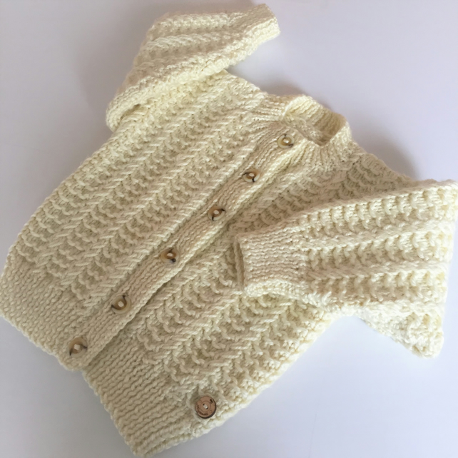 Girl's Aran Style Cardigan - to fit 1 - 2 years approx