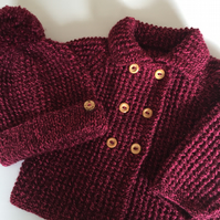 Baby Girl's Coat and matching Bobble Hat to fit up to 12 months approx (20 ins )