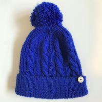 Child's Bobble Hat - to fit 4 - 7 years approx