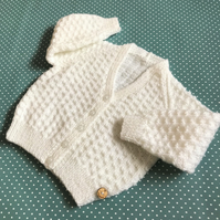 Baby Girl's V-Neck Cardigan - Age 9 - 12mths approx