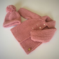 Baby hat and coat set - vintage style to fit up to 12mths