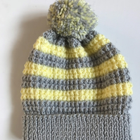 Baby Hat - hand knitted to fit 9 -18 months