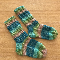 Baby Socks - handknitted - 0-6 months approx