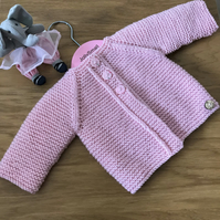 Hand knitted Baby Cardigan to fit newborn