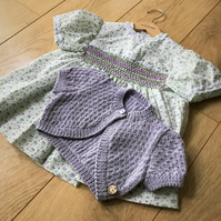 Baby's handsmocked dress and bolero to fit up to 9 months approx