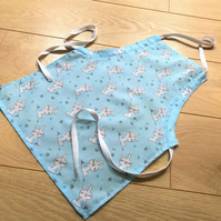 Kid's adjustable cotton apron - age 18 months upwards - length 19""