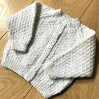 Hand knitted baby cardigan 0 - 3 months