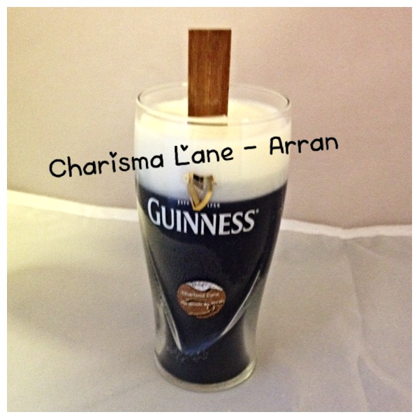 Handmade Guinness glass fragranced candles