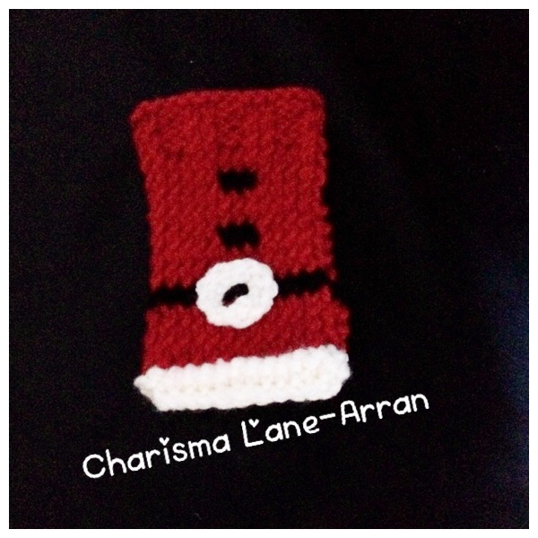 Hand Knitted Christmas Phone Sock