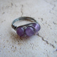 Amethyst Ring, Wire Wrapped, Bohemian Style Eternity Ring