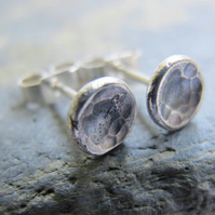 Slate grey textured stud earrings