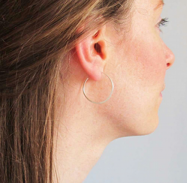 Sterling silver hoops- small