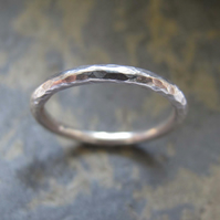 Women's handmade sterling silver ring.