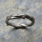 18ct white gold organic style ring
