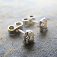 Simple organic style stud earrings