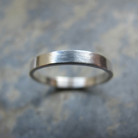 Women's silver wedding ring
