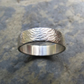 Men's wide wavy hammered ring - Men's flowing hammered wedding band ring