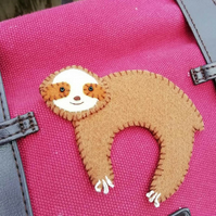 Cute Felt Sloth Brooch