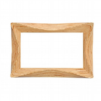 Carved wooden wall hanging mirror
