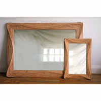 Large wall hanging mirror, 1100mm x 780mm (43 x 31 inch) wooden mirror