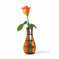 Vase - Flower Bud vase - Wooden vase - Rustic vase - Centerpiece - Gifts for her